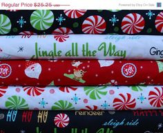 ON SALE Henry Glass & Co Peppermint Twist HALF by NauvooQuiltCo, $21.46