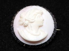 New Listings Daily - Follow Us for UpDates -  Description or Style:  Petite  Antique Victorian Sterling Silver Cameo Pin - Round Carved Angel Skin Coral cameo with a Woman's Profile - #Vintage Late 1800's Fine Precious ... #vintage #jewelry #teamlove #etsyretwt #ecochic #thejewelseeker ➡️ http://etsy.me/2kFYMK5