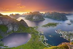 Mountains in the Lofoten Islands.