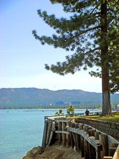 Lake Tahoe walk way by Mark Miller - South Lake Tahoe, California