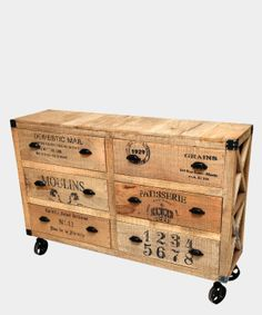 mueblecito Reclaimed Wood Furniture, Industrial Furniture, Painted Furniture, Industrial House, Industrial Chic, Industrial Design, Furniture Making, Diy Furniture, Safari Bedroom