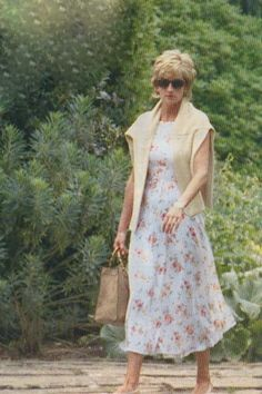 Princess Diana Casual Floral Dress