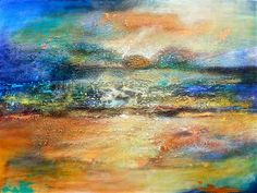 """Copper Sky"" by DL Watson - acrylic painting - http://www.ugallery.com/dl-watson"