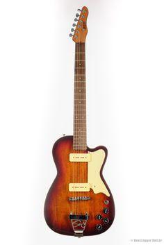 """BootLegger Guitar """"The Rye Rocker"""" Brown Vintage Sunburst"""