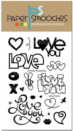 Paper Smooches: Lots of Love stamp set