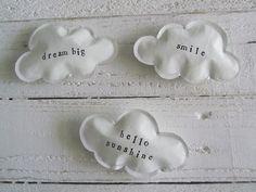 Paper cloud magnets - set of three. $15,00, via Etsy.