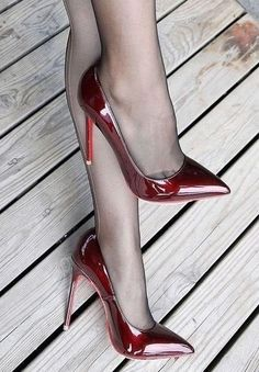 Trending women's fashion clothing and high heel shoes, boots, women's sandals and more. Red Stiletto Heels, High Heels Stilettos, High Heel Boots, Sexy Legs And Heels, Hot Heels, Black High Heels, Pantyhose Heels, Stockings Heels, Stripper Heels