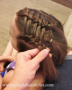 Girly Do Hairstyles: By Jenn: Ladder Waterfall Style (For Short or Long Hair)