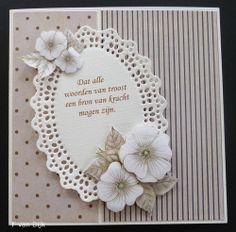 Voorbeeldkaart - 14-024 Condoleance - Categorie: Tekstkaarten - Hobbyjournaal uw…