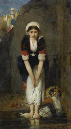 Λύτρας Νικηφόρος-Young girl by the river