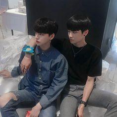 Image may contain: 2 people, people sitting Korean Boys Ulzzang, Ulzzang Couple, Ulzzang Boy, Gay Aesthetic, Couple Aesthetic, Kim Bo Bae, Tumblr Gay, Korean Friends, Cute Gay Couples