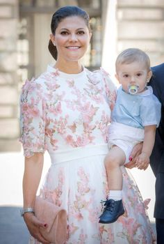 14-7-2017 Crown Princess Victoria of Sweden and Prince Oscar of Sweden after the thanksgiving service on the occasion of The Crown Princess Victoria of...