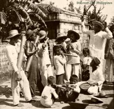 Filipino Bamboo Band Philippines Image Publisher: Keystone View Company Date: ca. Vintage Pictures, Old Pictures, Subic Bay, Reds Bbq, Philippines Culture, Filipino Culture, The Good German, Filipiniana, Historical Sites