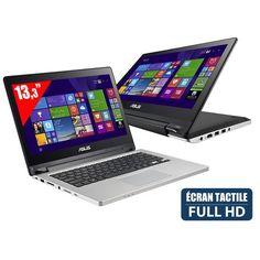 Transformer Book Flip TP300LD-C4017H - Ordinateur Portable Tactile convertible 13,3'' Full HD - Intel Core i5-4210U (1,7 GHz) - SSD 128 Go - RAM 4 Go - NVIDIA GeForce 820M - Windows 8.1 : en vente sur RueDuCommerce