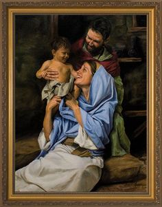 Holy Family II by Jason Jenicke - Standard Gold Framed Art - Catholic to the Max - Online Catholic Store Pictures Of Christ, Religious Pictures, Holy Family Pictures, Catholic Art, Catholic Saints, Catholic Store, Blessed Mother Mary, Blessed Virgin Mary, Jesus Childhood