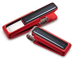 Red Anodized Money Clip