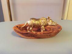 Rhino jewelry holder, ring dish by LotusOro on Etsy https://www.etsy.com/listing/263154639/rhino-jewelry-holder-ring-dish