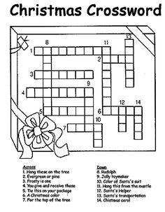 printable christmas crossword puzzle - Holiday Printable Puzzles