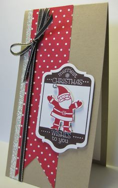 Tag It - Santa!  SU stamp set, (by Barb Mann)