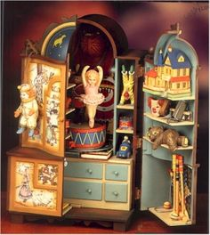 Doll house christmas vignettes enchanted clock tower for Banging house music