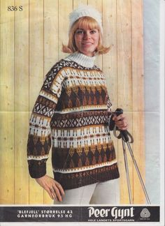 Blefjell 836 Norwegian Knitting, Vintage Patterns, Knitting Patterns, Men Sweater, Turtle Neck, Knits, Hooks, Creative, Sweaters