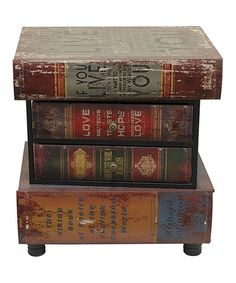 Wood Books End Table