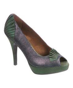 Take a look at the Bronze Egyptian Princess Peep-Toe Pump on #zulily today!