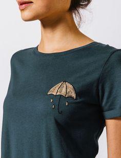 T-shirt brodé en sequins