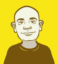 Cartoon illustration of a bald headed man called Ed.