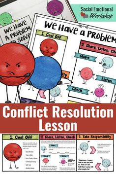 """This step-by-step mediation process provides students with a consistent and fair framework to help them resolve conflicts. It is helpful for students to already be familiar with I-messages, coping skills, and assertive communication to fully benefit from the problem-solving process. The provided resources are intended for small group counseling but can be easily used by classroom teachers to set up a """"Peace Point"""" in their classroom to help students with conflict resolution. Social Emotional…"""
