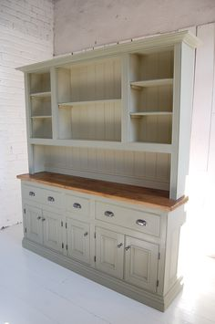 White Kitchen Dresser upcycled hutch | kitchens, antique hutch and white paints
