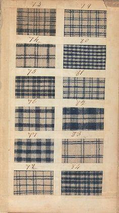 18th C. Linen checks   Textile Sample Book MET 156.4 T31 date 1771