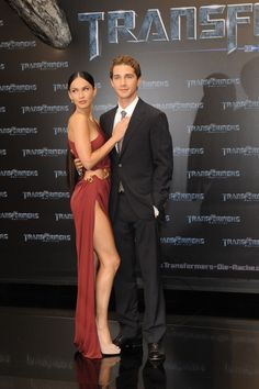 Megan Fox and Shia LaBeouf at the film premiere of Transformers - Revenge of the Fallen