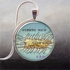 Hey, I found this really awesome Etsy listing at https://www.etsy.com/listing/69098340/puerto-rico-map-pendant-puerto-rico
