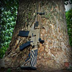 Rock River Arms AR-15 Cerakoted in Mudd Brown and Graphite Black  #cerakote #AR15 #Guns