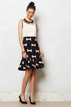 Get in my CLOSET!!! Bowtie Pencil Skirt #anthropologie