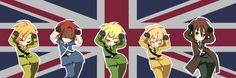 Ireland, Scotland, England, Northern Ireland and Wales<<<SO CUTE<< repinning for Scotland!