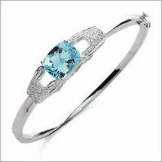 Blue diamond bracelet