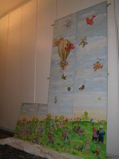 Ante armadio per bambini a decoupage pittorico