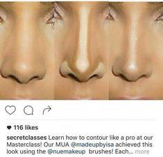 Contour - Beauty tips - Make Up İdeas Makeup Goals, Makeup Inspo, Makeup Inspiration, Makeup Ideas, Nose Makeup, Skin Makeup, Maquillage On Fleek, Nose Contouring, Make Up Contouring