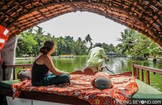 Shelley watching the world go by. Must See Places in Kerala - Kerala Backwaters.
