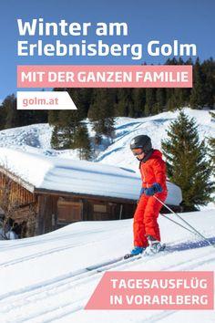Das Skigebiet am Golm im Montafon eignet sich ideal für die ganze Familie. Die verschiedenen Pisten sorgen dafür, dass jeder - vom Anfänger bis hin zum Profi - seinen Spaß hat. Für die kleinen Gäste gibt es verschiedene Skischulen, wo spielerisch Ski fahren erlernt wird. Erlebt gemeinsam eine unvergessliche Zeit in Österreich! #golmat Baseball Cards, Sports, Ski Trips, Mountain Landscape, Winter Vacations, Day Trips, Family Vacations, Hs Sports, Sport