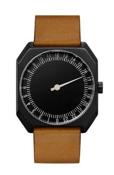 slow Jo - Brown Vintage Leather, Black Case, Black Dial - Swiss Made