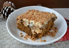 Gingerbread Poke Cake..uses cake mix and sweetened condensed milk