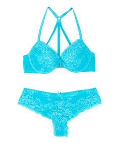 d86df086df1f1 Loving this Blue Girl Without Limits Racerback Bra  amp  Tanga on  zulily!