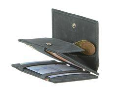 Garzini MAGIC WALLETS Essenziale Coin - Leder RFID Minibörse Kartenetui - 4 Farben