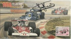 South African racing driver Jody Scheckter autographed envelope 1976 McLaren Cosworth M23  Limited edition No.22 of 120  Price $60
