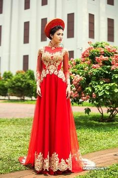 Ao Dai - A traditional Vietnamese Wedding dress. Its a long-sleeved ...