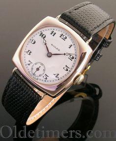1930 9ct rose gold cushion vintage Rolex watch (3859)