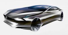 Buick Riviera Concept Design Sketch